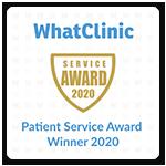 whatclinic patient service award winner 2020